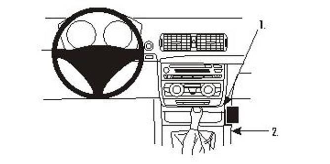 Bilde av Brodit ProClip Console Mount- BMW 1-series