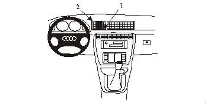 Bilde av Brodit ProClip Center Mount Audi A4/S4 Multi