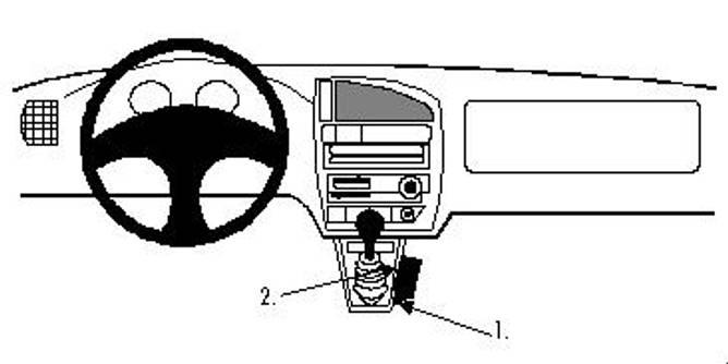 Bilde av Brodit ProClip Console Mount - Citroen Saxo