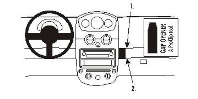 Bilde av Brodit ProClip Angled Mount Chevrolet Matiz 06-10