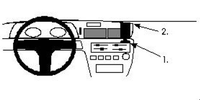 Bilde av Brodit ProClip Center mount - Toyota Carina