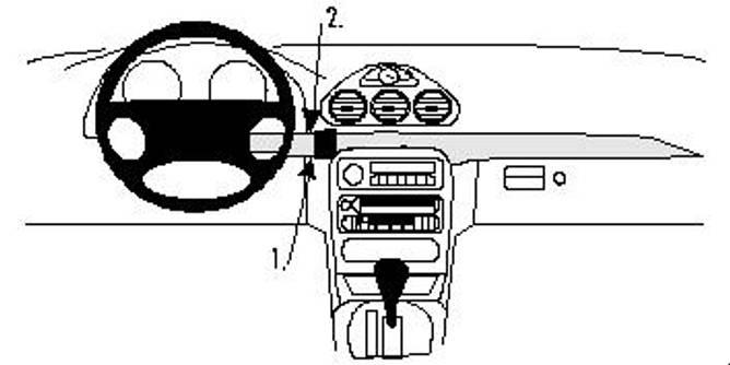 Bilde av Brodit ProClip Center Mount - Chrysler 300M 99-04