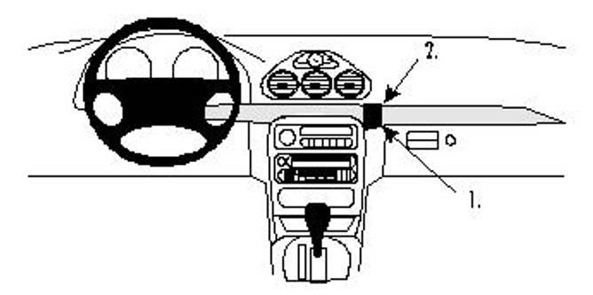 Bilde av Brodit ProClip Angled Mount - Chrysler 300M 99-04