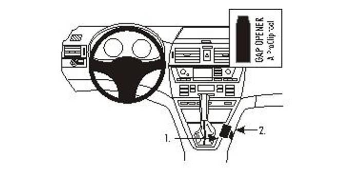 Bilde av Brodit ProClip Console Mount - BMW X3 2004-2010
