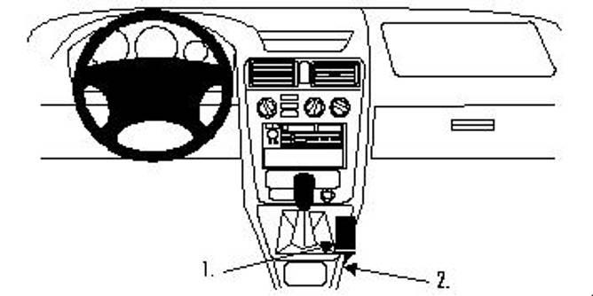 Bilde av Brodit ProClip Console Mount - Mitsubishi Galant