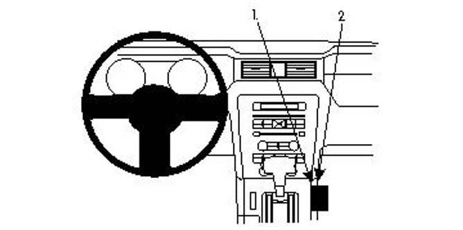 Bilde av Brodit ProClip Console Mount Ford Mustang 10-14