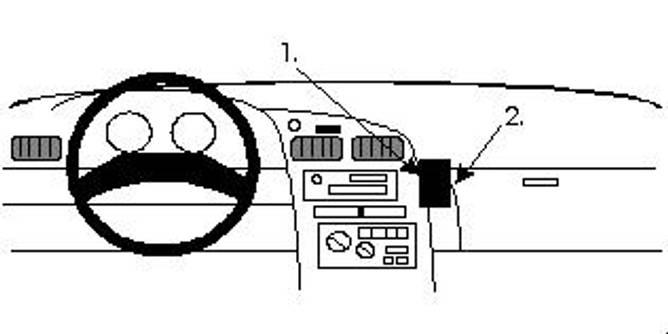 Bilde av Brodit ProClip Angled mount - Toyota Celica