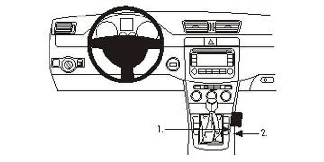 Bilde av Brodit ProClip Console Mount VW Passat Multi