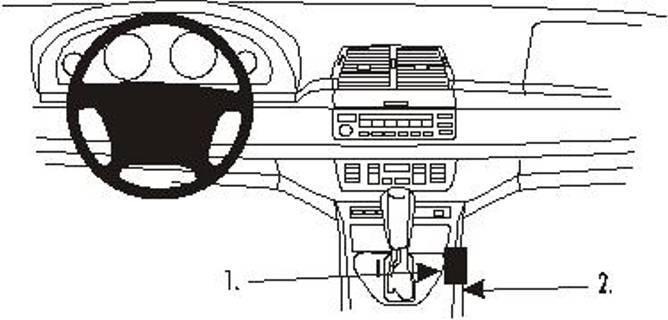 Bilde av Brodit ProClip Console Mount - BMW X5 00-06