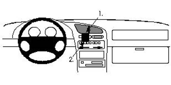 Bilde av Brodit ProClip Center Mount Mazda 323 F 1995-1997