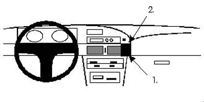 Bilde av Brodit ProClip Angled mount, low - Toyota Corolla