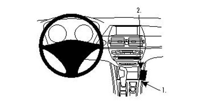 Bilde av Brodit ProClip Console Mount - BMW X5 07-13