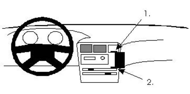Bilde av Brodit ProClip Angled mount - Toyota Corolla