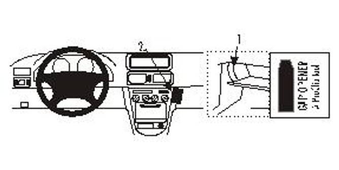 Bilde av Brodit ProClip Angled mount low, - Toyota Corolla