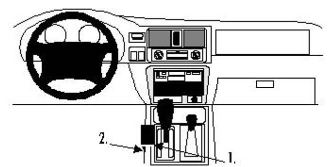 Bilde av Brodit ProClip Console Mount - Honda