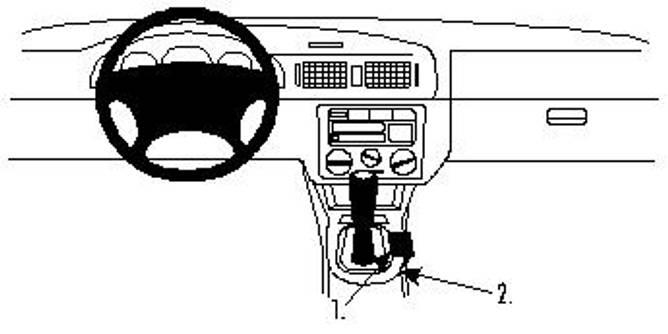 Bilde av Brodit ProClip Console mount - Skoda Octavia I