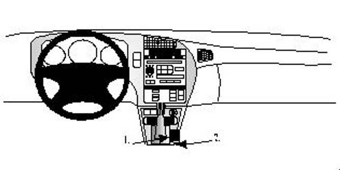 Bilde av Brodit ProClip Console mount - Saab 9-5 1998-2006