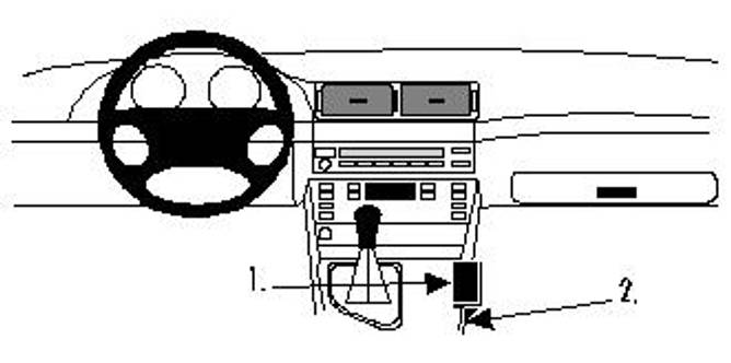 Bilde av Brodit ProClip Console Mount BMW 5-series M5 E39