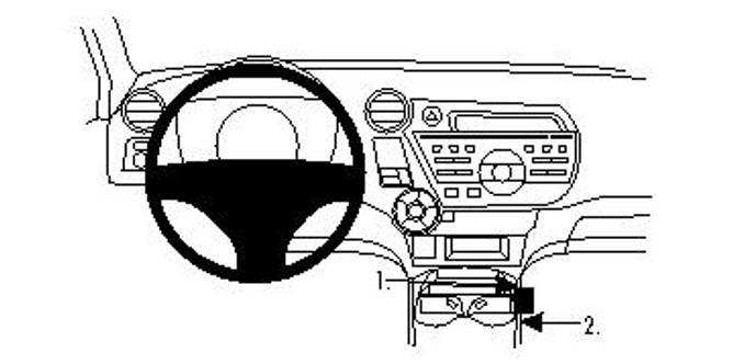 Bilde av Brodit ProClip Console Mount - Honda Insight