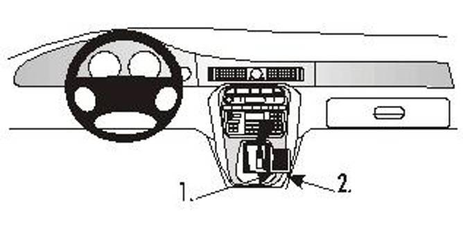Bilde av Brodit ProClip Console mount- Jaguar XJ8/XJR