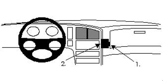 Bilde av Brodit ProClip Angled mount - Saab 9000 1985-1998
