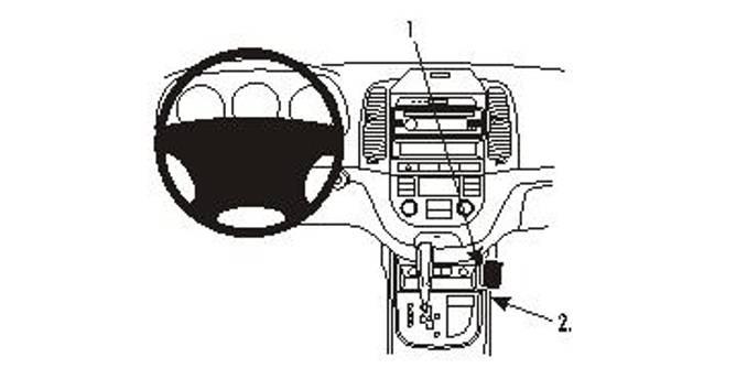 Bilde av Brodit ProClip Console mount - Hyundai Santa Fe