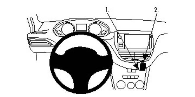 Bilde av Brodit ProClip Angled mount - Peugeot 2008/208