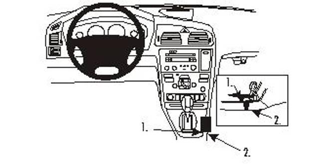 Bilde av Brodit ProClip Console mount - Volvo S60
