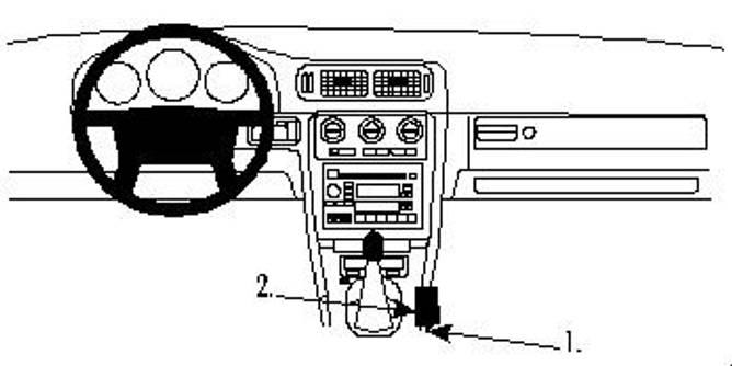 Bilde av Brodit ProClip console mount - Volvo C70/S70/V70