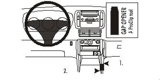Bilde av Brodit ProClip Console Mount - Honda Pilot