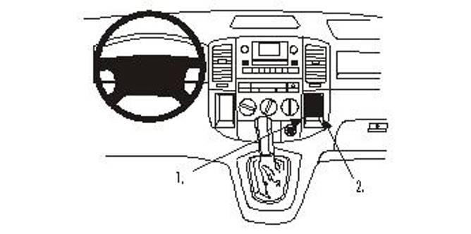 Bilde av Brodit ProClip Angled mount- Toyota Corolla Verso