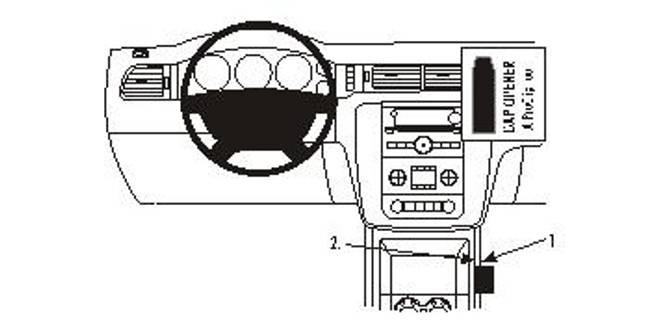 Bilde av Brodit ProClip Console Mount Chevrolet Multi