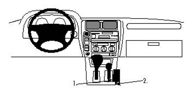 Bilde av Brodit ProClip Console mount- Toyota LandCruiser