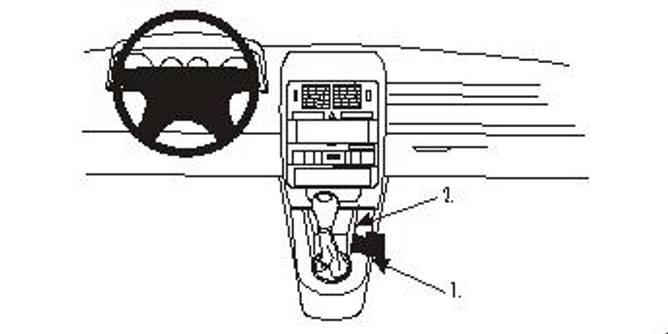 Bilde av Brodit ProClip Console Mount Audi A2/S2 01-05