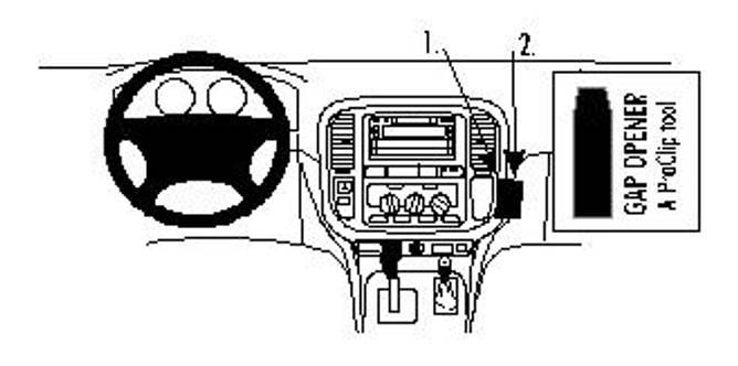 Bilde av Brodit ProClip Angled mount - Toyota LandCruiser