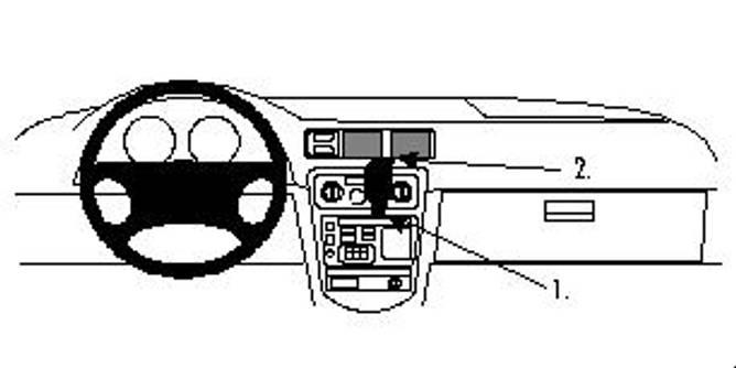 Bilde av Brodit ProClip Center Mount Chevrolet Prizm 98-02