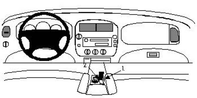 Bilde av Brodit ProClip Console Mount Ford Explorer 95-01