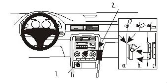 Bilde av Brodit ProClip Angled mount - MG ZS 01-03 / Rover