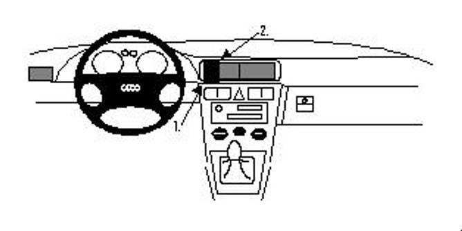 Bilde av Brodit Proclip Center Mount Audi A3/S3 97-02