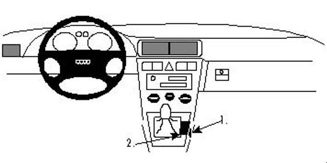 Bilde av Brodit ProClip Console Mount Audi A3-S3/Seat