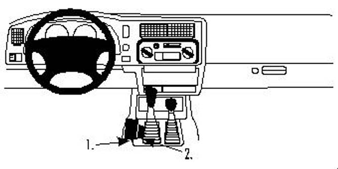 Bilde av Brodit ProClip Console Mount - Mitsubishi L200