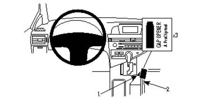 Bilde av Brodit ProClip Console Mount Lexus RX Series