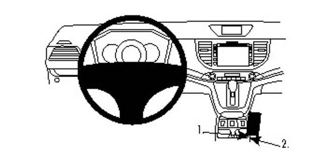 Bilde av Brodit ProClip Console Mount - Honda CR-V