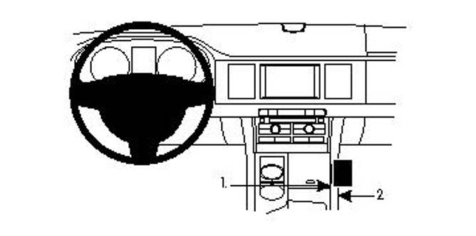 Bilde av Brodit ProClip Console mount - Jaguar XF