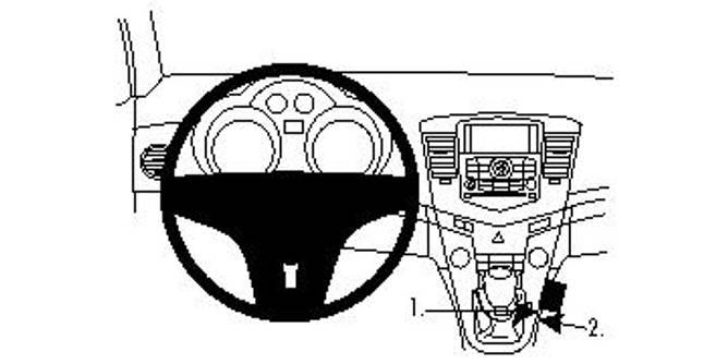 Bilde av Brodit ProClip Console Mount Chevrolet Cruze