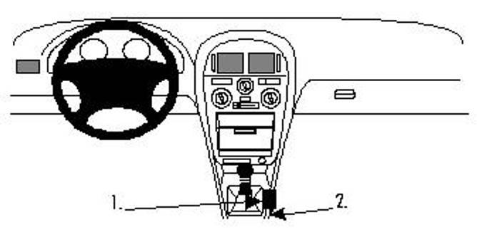 Bilde av Brodit ProClip Console Mount - Mitsubishi Carisma