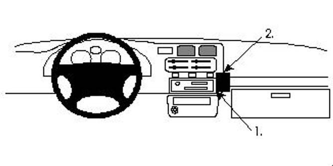 Bilde av Brodit ProClip Angled Mount - Toyota RAV4