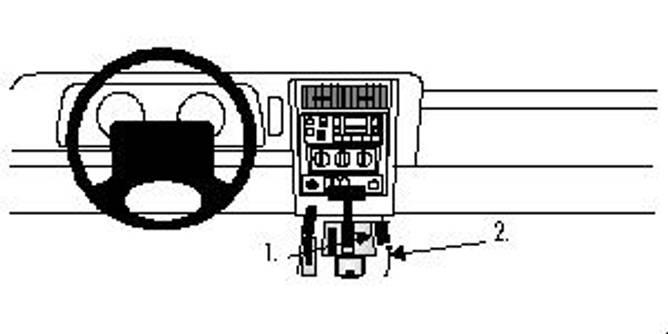 Bilde av Brodit ProClip Console Mount - Jeep Cherokee