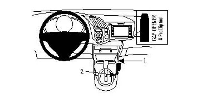 Bilde av Brodit ProClip Console Mount - Honda CR-Z