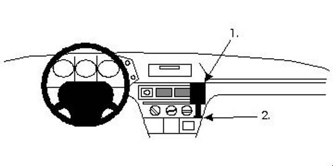 Bilde av Brodit ProClip Angled mount - Citroen BX 86-92